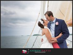 Host a nautical themed wedding or reception on a Tall Ship! [ Photography by Andrew Davis ] visit www.libertyfleet.com for more information.