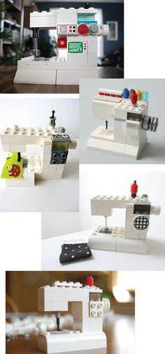 Lego sewing machine.  Raiding Punk's stash of Legos and making one a few!