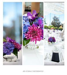 Purple & blue wedding flowers