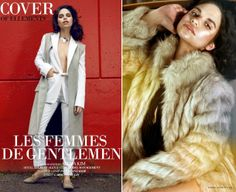 A lovely androgynous creative by Blanche Macdonald Makeup graduate/CurliQue Beauty Q-Talent Paula Lanzador and Fashion graduate Carolina Siulin that landed the cover of Elléments Magazine! Being a tomboy has never looked quite so good with this lovely cover editorial spread lensed by Atcha Kim, with makeup by Paula, style by Carolina on local stunner Shereen Alex (LUXE Model Management).