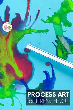 Blow painting with straws is an exciting and creative process art project for kids. Your kids will love these straw blown paintings!. Straw painting is an easy art project for kids in preschool, pre-k or a home. Make monsters, ocean coral, germs, peacock or just let them create open-ended art. Paint on canvas or paper....includes ideas for experimenting. Perfect for spring, summer, fall, winter. Bug Crafts, Preschool Crafts, Easy Art Projects, Projects For Kids, Creative Activities, Literacy Activities, Summer Fall, Fall Winter, All About Me Crafts