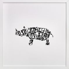 Modern Abstract Scribble Rhino by Noelle Stolworthy at minted.com