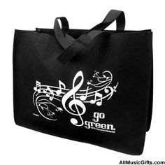 Reusable Bag with Music Notes- I need more of these for grocery shopping! #Green #Reusable
