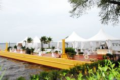 South Beach Party Barge...a great solution when more space is needed.  beachview.net