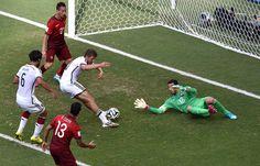 Pontuações Thomas Müller seu hat-trick e quarto goleiro da Alemanha Rui Patricio