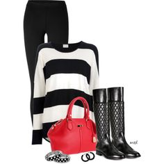 Stripes and Dots, created by michelled2711 on Polyvore