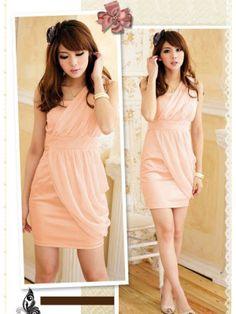 Elegant Nude Pink Sheath/Column One-shoulder Neckline Mini Homecoming Dress