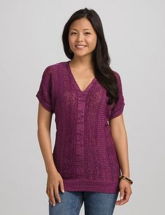 Pointelle Pullover. If I go with pinks for the girls