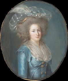 Madame Élisabeth de France by Adelaide Labille-Guiard, ca. 1787. This is a pastel study for the oil portrait. The sitter is the youngest sister of Louis XVI.