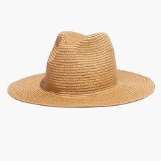 Shade your face from the sun in a stitched straw hat with a wide c6b8b86e5d8f