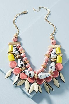 Anthropologie Tahiti Bib Necklace