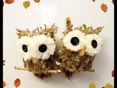 Diy: How to make owl ornament using recycled materials - YouTube Owl Ornament, Ornaments, Fall Deco, Recycled Materials, Recycling, Toys, Videos, Youtube, Activity Toys