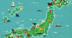 Japan map illustrations for Monocle MagazineArt and design inspiration from around the world – CreativeRoots