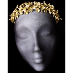 Gold flower tiara. Wedding headpiece. Gold wedding accessories. Cold... ($97) ❤ liked on Polyvore featuring accessories, hair accessories, bridal tiaras, vintage hair accessories, porcelain crowns, bridal flower crown and gold crown