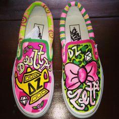 Delta Zeta custom painted shoes!