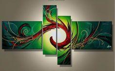 Ručně malovaný obraz - abstrakce 056