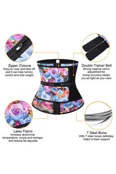 Floral Printing Compression Double Strap Latex Waist Trainer, Shop for cheap Floral Printing Compression Double Strap Latex Waist Trainer online? Buy at Modeshe.com on sale! Latex Waist Trainer, Waist Trainer Corset, Flatten Tummy, Slim Shapewear, Tummy Tucks, Waist Training, Waist Cincher, Slim Waist, Fabric Material