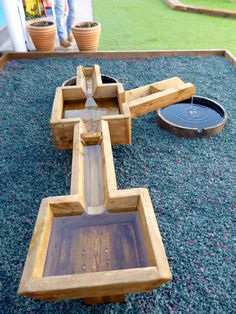 Swindon School Playground Designers, playground design, play design, water in play, landscape architecture