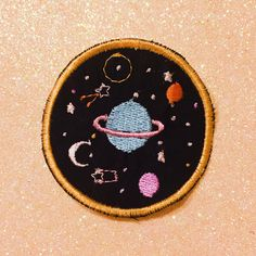"Patches - Planets Sew On Patch - Embroidered Patch, Universe Space Patch - Nasa - Flair - Cute Gift - universe watch (1.9"" x 1.9"") by Mocheella on Etsy https://www.etsy.com/listing/469907152/patches-planets-sew-on-patch-embroidered"