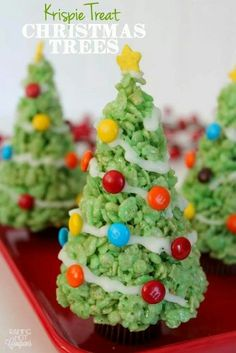 Christmas tree rice krispy treats!