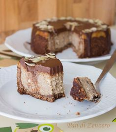Vegan Pumpkin cheesecake http://ilpandizenzero.it/sito/pumpkin-cheesecake/