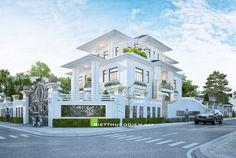 Make a nice beach house Classic House Exterior, Modern Exterior House Designs, Dream House Exterior, Modern House Plans, Modern House Design, Villa Plan, Beautiful House Plans, Beautiful Homes, House Outside Design