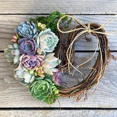 Succulent Heart Wreath 8 Succulent Heart Mothers Day Gift gift Thank you gift Hostess gift Birthday Gift Bereavement Gift Succulent Gifts, Succulent Wreath, Valentine Gifts, Holiday Gifts, Bereavement Gift, Greenhouse Growing, Faux Pumpkins, Host Gifts, Thanksgiving Centerpieces