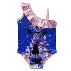60a1d8eccc This Vampirina one piece bathing suit comes in different color combinations