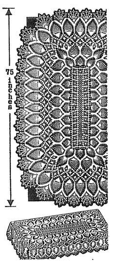 Vintage Crochet pattern 505 Pineapple Tablecloth by BlondiesSpot *****