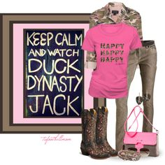 Duck Duck ! The pink not so much and I would trade the cowboy boots for camo  muck boots.
