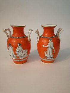 Check out this item in my Etsy shop https://www.etsy.com/listing/594298090/antique-vases-neoclassical-pair-vases