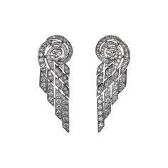 High Jewelry earrings Platinum, brilliants from the collection L'Odyssée de Cartier - Parcours d'un Style