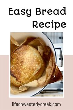 This bread is so easy to make. All you need is flour, water, yeast, salt and a dutch oven and you will be able to make this great looking bread!