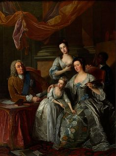 Jean-Baptiste Van Loo - Portrait of Richard Boyle, 3rd Earl of Burlington and 4th Earl of Cork, with his Wife and Daughters