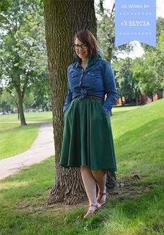 Breathtaking Tiger Lilies Skirt in Stem Green | Mod Retro Vintage Skirts | ModCloth.com