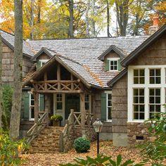 Log cabin entry