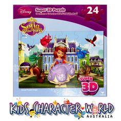 Princess Sofia 24 Piece Super 3D Jigsaw Puzzle $16.95 (ebay Store:  kidscharacterworld2013 email:  kidscharacterworld@live.com.au) http://www.ebay.com.au/itm/Princess-Sofia-Jigsaw-Puzzle-Super-3D-24-Pc-Disney-New-Kids-Girl-Licensed-BNIB-/181553741550?pt=AU_Toys_Hobbies_Puzzles&hash=item2a45723eee