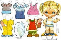 Resultado de imagem para bonecas de papel 1975
