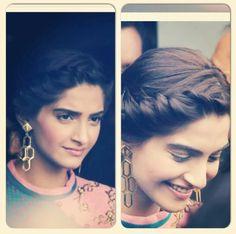 Sonam Kapoor - french hairdo
