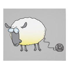 Sheep happens :o. Knitting Humor, Crochet Humor, Knitting Projects, Knitting Patterns, Crochet Projects, Sheep Cartoon, Cute Cartoon, Sheep Art, Cartoon Posters