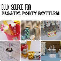 Where to buy bulk plastic party bottles