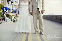 Getting married on mission beach- this photo is a must!   Emily & Michael {Mission Beach Wedding} | Jessica Van Photography