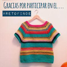 Jersey, en hilo de algodón, a crochet, by retofinde.