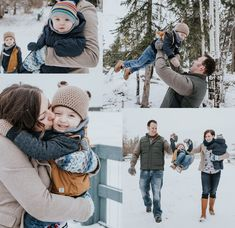 Winter family Photography, cosy Knits, snow photos, winter photoshoot, babies and snow