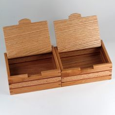 Keepsake Boxes Matched Pair Jewelry Box and Mens by JMCraftworks