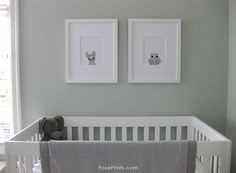 #PosePrints Nursery Wall Art. I love the framing of these prints, looks like these animals are looking in