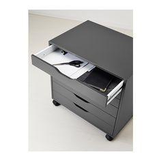 ALEX Caisson à tiroirs sur roulettes - gris - IKEA 67x66cm - 149.00