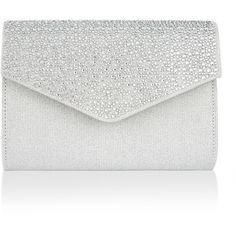 8012cd358289 Monsoon Jove Metallic Diamante Clutch Bag ( 60) ❤ liked on Polyvore  featuring bags