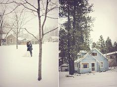 winter wedding photo