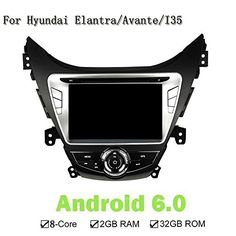 Android 601 HD Screen 1024600 Eight Core 32GB Car DVD Player GPS Navi Stereo Radio For Hyundai Elantra Avante I35 20112013 -- Be sure to check out this awesome product. (This is an affiliate link) #DashCamGPS
